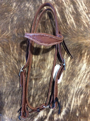 "3/4"" Scalloped Barb Wire Headstall"