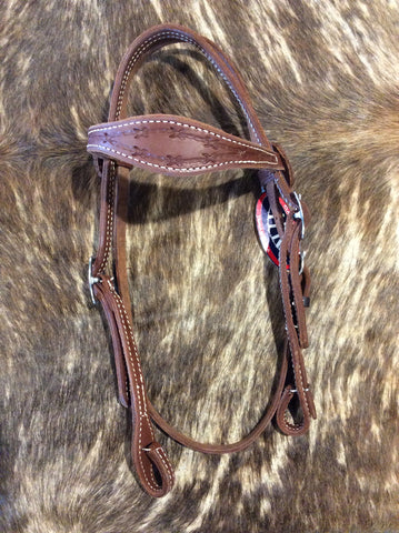 "5/8"" Scalloped Headstall"