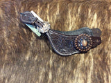 Ladies Spur Straps with Copper Concho