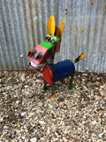 Extra Small Recyled Metal Crazy Donkey