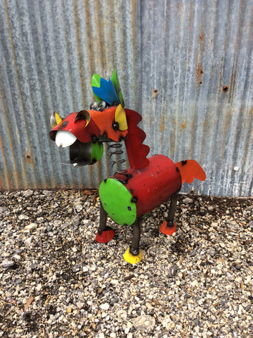 Small Recycled Metal Crazy Horse
