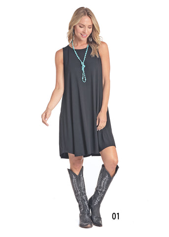 Panhandle Women's Grey Pocket Sleeveless Dress
