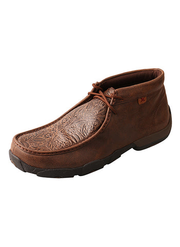 Men's Brown Print Driving Moccasins