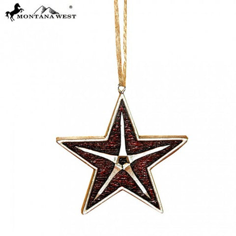 Burgundy Star Ornament
