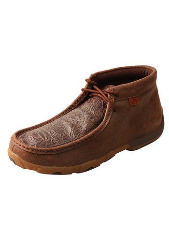 Women's Brown Print Moccasins