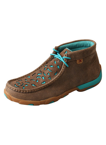 Twisted X Women's Bomber Turquoise Moccasin