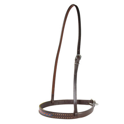 Circle Y Bead Inlay with Copper Dots Noseband