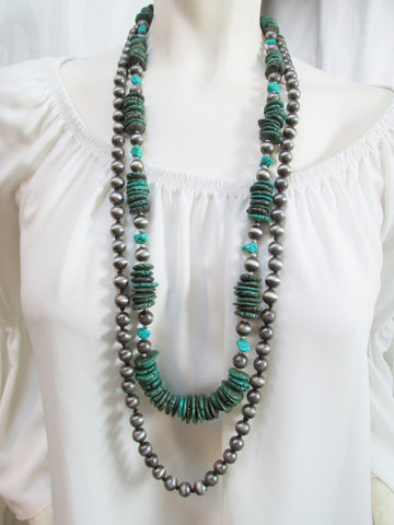 Chunky Green Blue Necklace