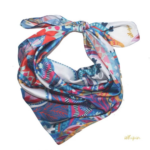 Whipin Claire Bright Paisley Wild Rag