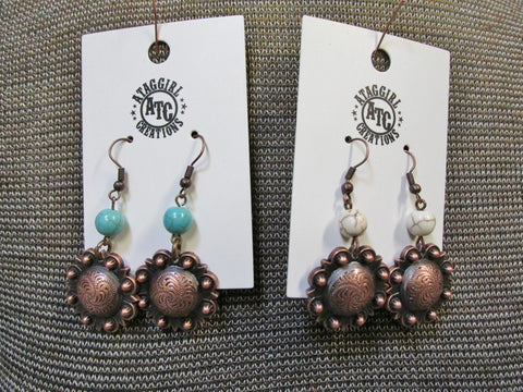 Copper Concho Earring