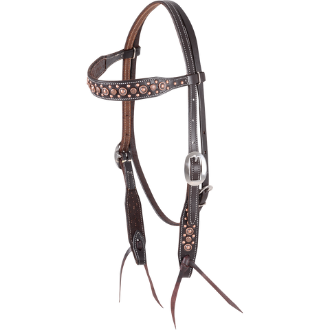 Martin Saddlery Antique Copper Dot Headstall