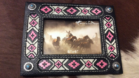 Indian Beaded Picture Frame