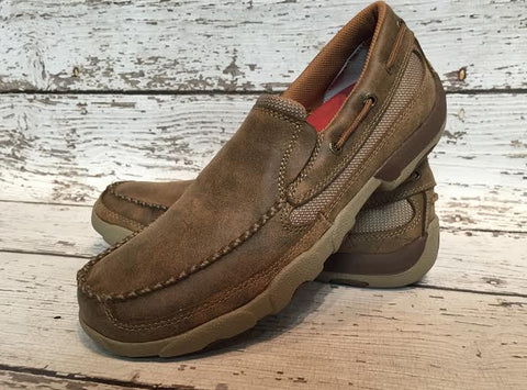 Men's Twisted X Slip On Bomber Moccasin