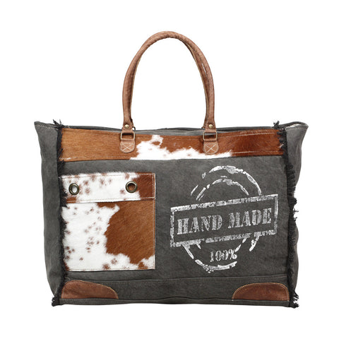 100% Handmade Print Weekend Bag