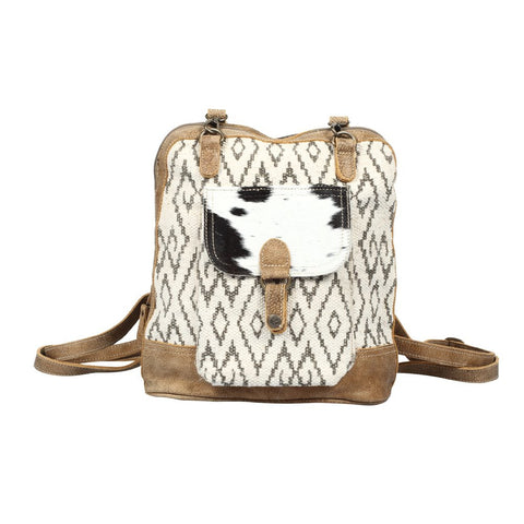 Amber Cowhide Pocket Backpack
