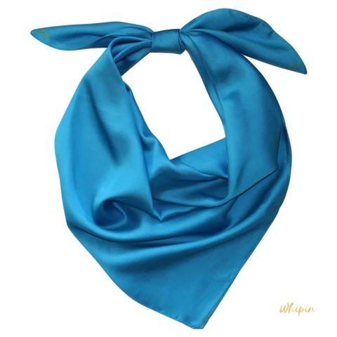 Whipin Solid Turquoise Wild Rag