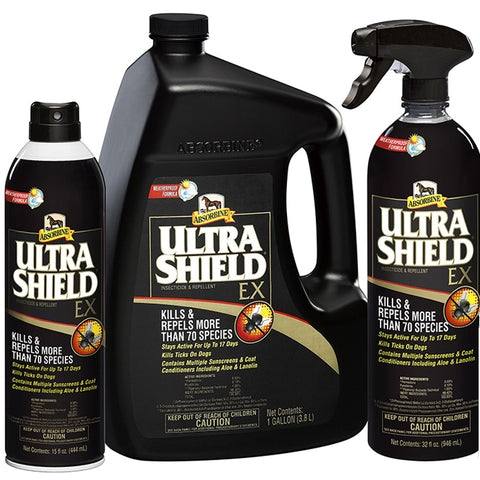 Ultra Shield Fly & Tick Spray for Horses & Dogs