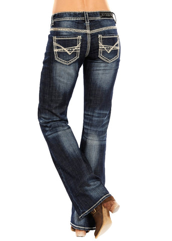 Heavy Embroidered Riding Jean