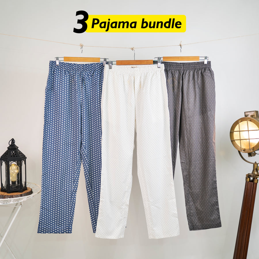 Comodidad Loose Pyjama Set of 3 - Large for Men