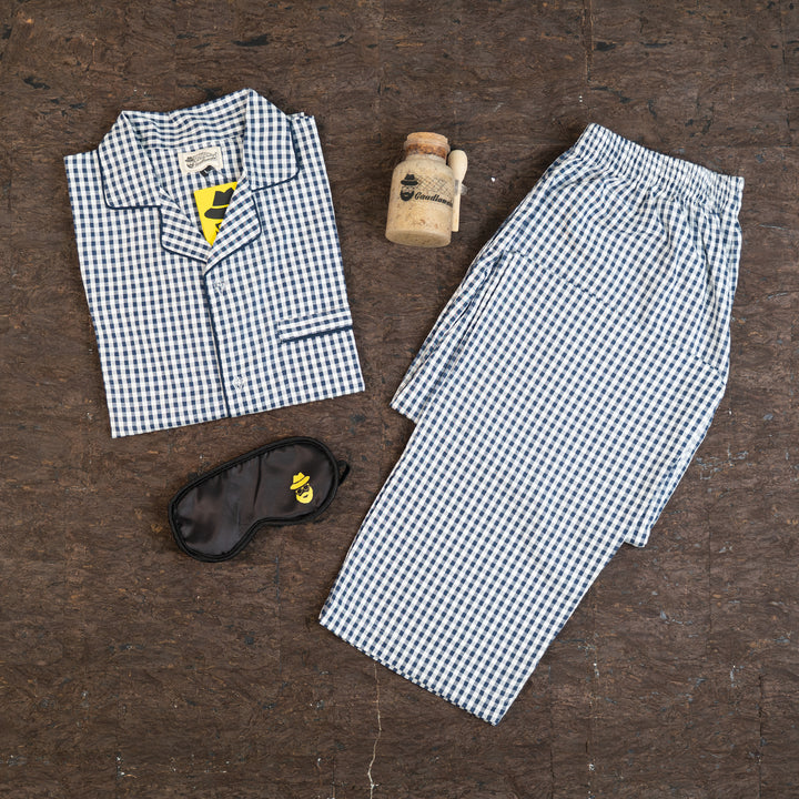 Gingham Blues Night Suit