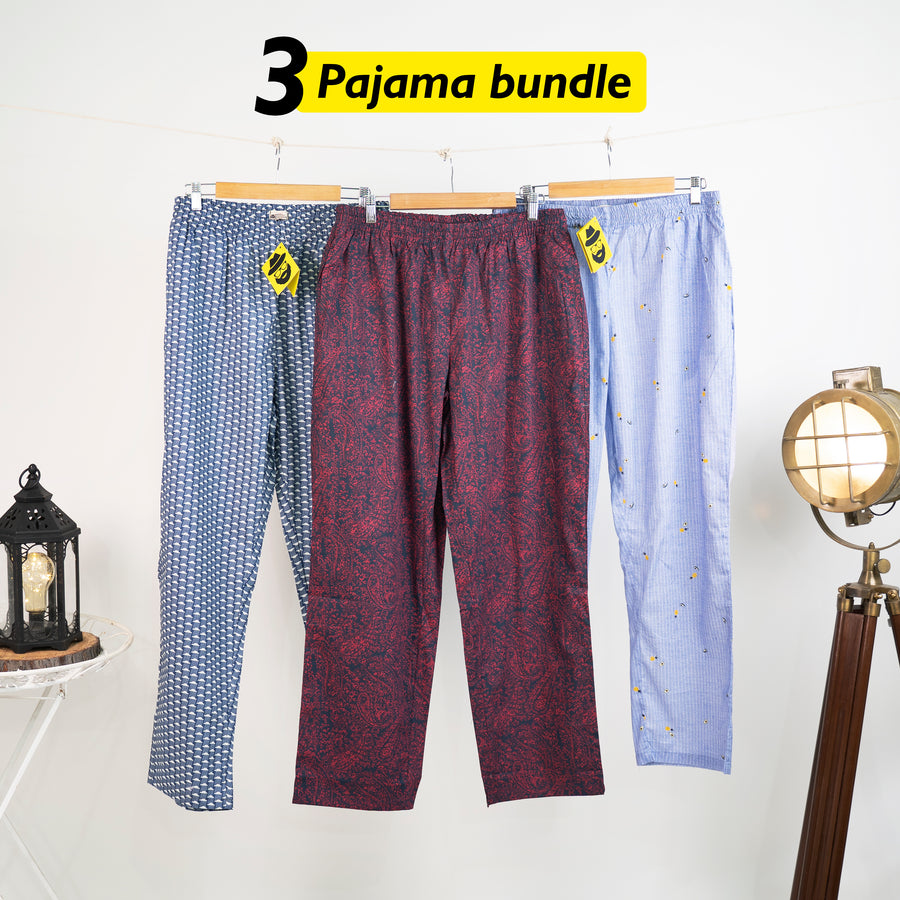 Fijn Loose Pyjama Set of 3 - XL for Men