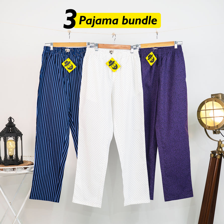 Udobnost Loose Pyjama Set of 3 - Small for Men
