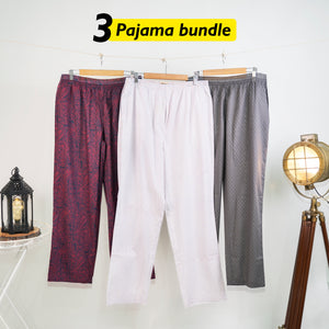 Bem Loose Pyjama Set of 3 - XXL for Men