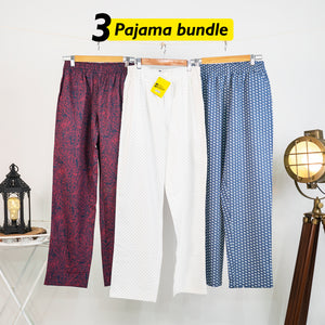 Comfy Loose Pyjama Set of 3 - Small for Men