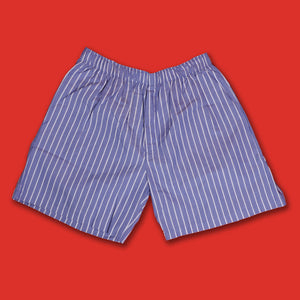 Pencil Striped Blue Boxer