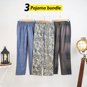 Lobu Loose Pyjama Set of 3 - Small for Men