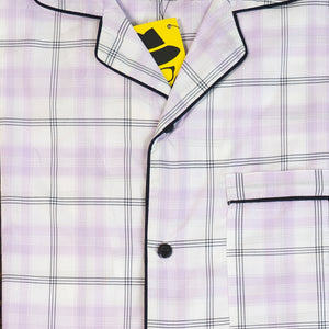 Plaid Purple Night Suit