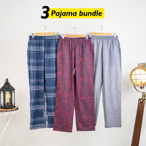 Hauska Loose Pyjama Set of 3 - Small for Men