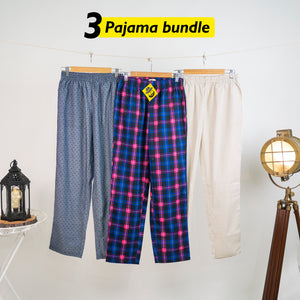 Amusement Loose Pyjama Set of 3 - Small for Men