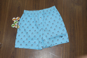 Sky Blue Cycle Print Boxer