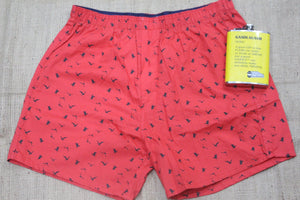 Red Bird Print Boxer
