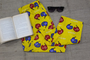 Yellow Printed Pyjama