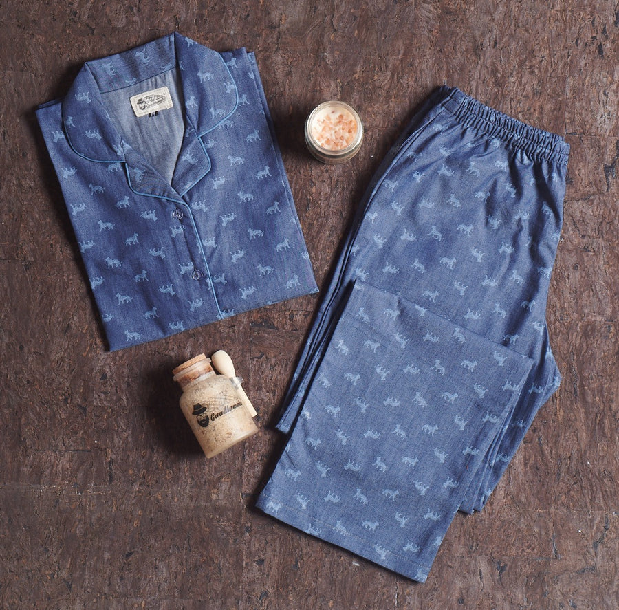Denim Tiger Long Length Suit