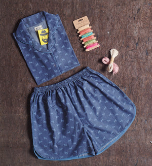 Denim Tiger Short Suit