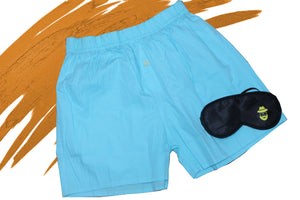 Sky Blue Plain Boxer
