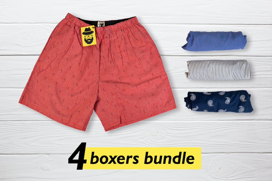 Chatvarah Set of 4 Boxers - Medium