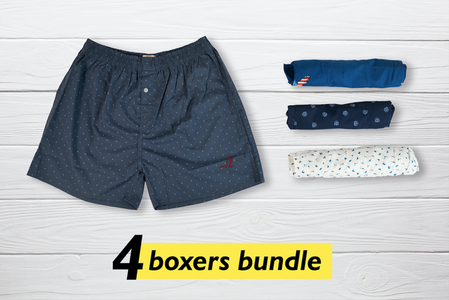 Cha Set of 4 Boxers - XL