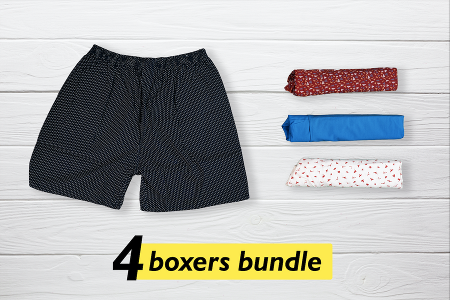 Classy Set of 4 Boxers - Large