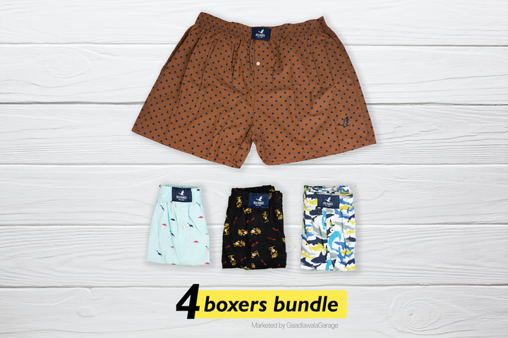 Poruc Set of 4 Boxers - XXL