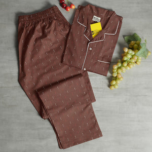 Brown Base with Arrow Prints Night Suit