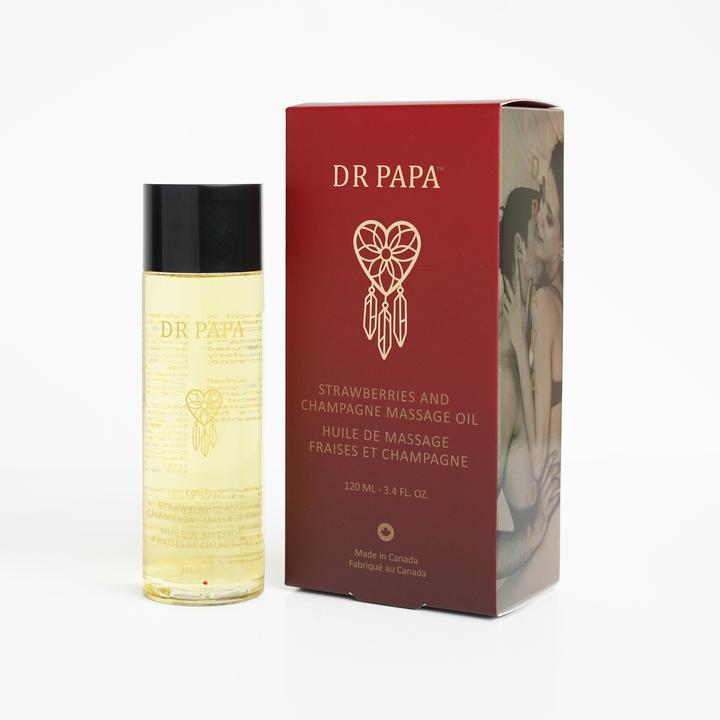 Dr Papa Kissable Strawberries And Champagne Body Massage Oil