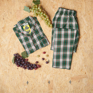 Green White Checkered Design