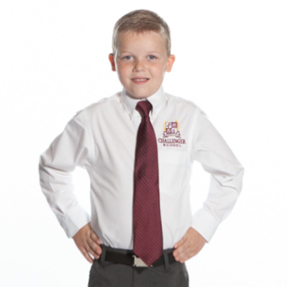 Boys PinPoint Long Sleeve Oxford