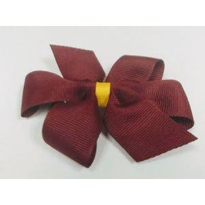 Dark Maroon Bow w/ Maize Wrap