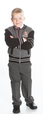 Varsity Jacket - Black/Grey