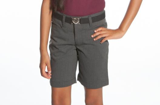 Girls Charcoal Heather Shorts - Regular